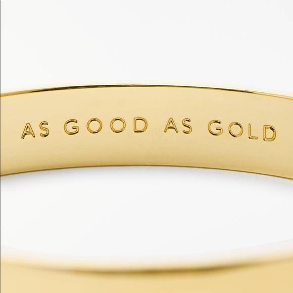 "kate spade Jewelry - Kate Spade ♠️ ""As Good As Gold"" Bangle"